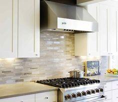 Backsplash tile with solid countertop