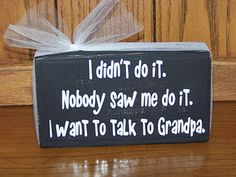 For Grandpa- love this!! Could also put on grand kids tshirt to wear :)