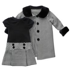 Toddler Houndstooth Dress and Coat Set - Totally Trendy. This is the kind of thing my mother would buy for my baby girls, and I wouldn't mind one bit!