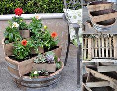 DIY Recycled Barrel Planter