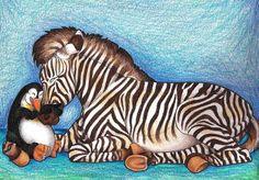 Loved you once... by ~EmilysArtistry on deviantART  Dear gods... I never thought I'd find zebras and penguins together in one picture--nevermind cuddling.