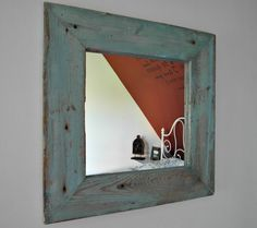Chic mirror from an old wood frame Vintage Loft style
