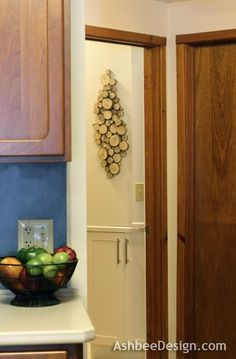 Tutorial for Wood Slice Wall Art - Rustic with a contemporary flair - by AshbeeDesign.com
