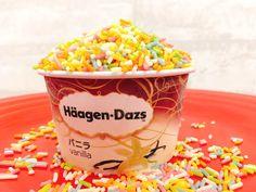 業務用カラースプレーをアイスにむちゃくちゃ振りかけてみた結果 Chocolate Sprinkles, Vanilla, Chocolate Chips