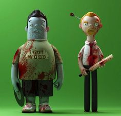 Brilliant Cornetto Trilogy Figurines. Evil Corp has designed these special sets of figurines of the duos from Shaun of the Dead, Hot Fuzz and more recently The World's End.