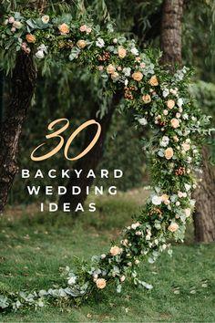 Garden Wedding Ideas On A Budget, Wedding Reception On A Budget, Elegant Backyard Wedding, Back Garden Wedding, Small Wedding Receptions, Planning A Small Wedding, Backyard Wedding Decorations, Tent Wedding, Wedding Ceremony