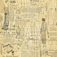 Graphic 45 Couture Fashion Single Sheet 12 x 12 Vintage Éphémères Vintage, Papel Vintage, Vintage Ephemera, Vintage Paper, Vintage Images, Vintage Prints, Vintage Signs, Graphic 45, Fashion Graphic