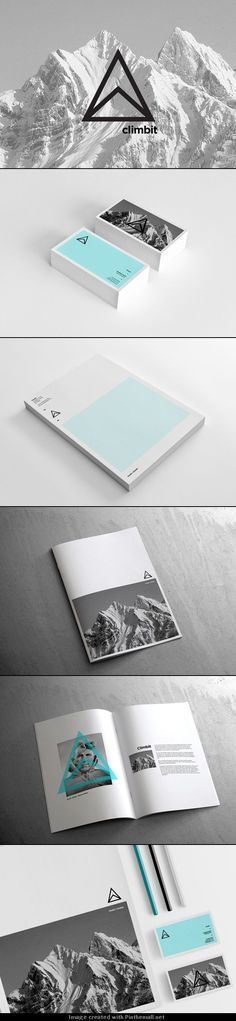 Climbit corporate identity, brand and logo design inspiration. Modern stationary…