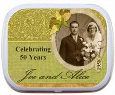 Still mint for each other Anniversary Party Favors, 60 Wedding Anniversary, Anniversary Ideas, Spa Party Favors, Wedding Aniversary, Mint Tins, Tin Containers, Party Ideas, Gift Ideas