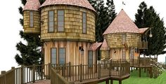 """J.K. Rowling's new tree house for her kids.  (Yes, I'm pinning to my """"To Try Someday"""" board.  A girl can dream.)"""