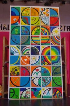 CLUB DE IDEAS | Mosaicos con un cuarto de círculo ~ La Eduteca