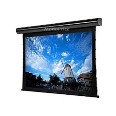 """Tab-Tensioned Motorized Projection Screen (Somfy Motor) w/ IR Remote 133"""" 16:9"""