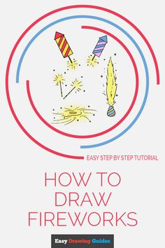 Learn to draw fireworks. This step-by-step tutorial makes it easy. Kids and beginners alike can now draw a great looking fireworks. Art Activities For Kids, Craft Projects For Kids, Arts And Crafts Projects, Art For Kids, How To Draw Fireworks, Fireworks Art, Drawing Tutorials For Kids, Drawing Ideas, Drawing Tips