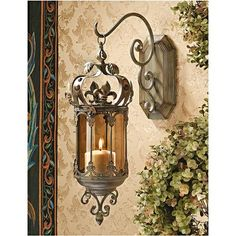 Crown Royale Hanging Pendant Lantern - Medieval Home Decor - Medieval & Gothic - Design Toscano on Wanelo - great idea for hanging the Middle Eastern lanterns, too Tuscan Design, Tuscan Style, Wall Lantern, Lantern Pendant, Candle Lanterns, Candle Sconces, Rustic Wall Sconces, Candle Lamp, Medieval Home Decor