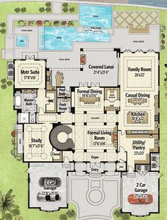 COOL house plans offers a unique variety of professionally designed home plans with floor plans by accredited home designers. Styles include country house plans, colonial, Victorian, European, and ranch. Blueprints for small to luxury home styles. The Plan, How To Plan, Plan Plan, Dream House Plans, House Floor Plans, Sims, Interior Columns, European House Plans, Curved Staircase