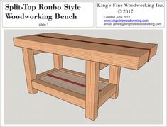 woodworking for kids Split-Top Roubo Woodworking Bench Woodworking Equipment, Learn Woodworking, Woodworking Supplies, Woodworking Workbench, Easy Woodworking Projects, Popular Woodworking, Woodworking Furniture, Diy Wood Projects, Woodworking Joints