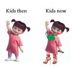 Kids then . . . . Kids now . . . .