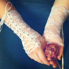 Laced, lace-up, grommet white lace wrist bracers  3af2f8954932daf886d67f2a8758f099.jpg (736×736)