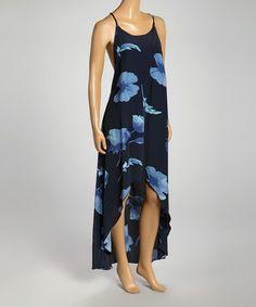 Look at this #zulilyfind! Dark Blue T-String Back Dress #zulilyfinds