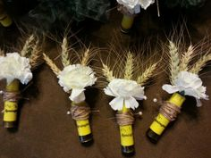 Colorful shot gun boutonnieres I found online. Is a great idea for your country wedding. Get your shells today for your own DIY project. Camo Wedding, Wedding Pics, Rustic Wedding, Our Wedding, Dream Wedding, Wedding Ceremony, Diy Wedding Flowers, Wedding Bouquets, Diy Flowers