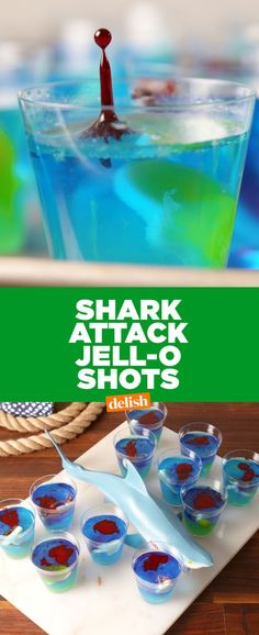 Your Next Party Needs These Insane Shark Attack Jell-O Shots  - Delish.com
