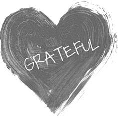Grateful heart = powerful vibrant thinking