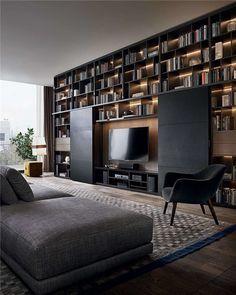 Resultado de imagen para bookshelves wall to wall maxalto