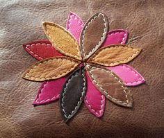 Leather clutch bag, brown leather wristlet with colored flo .- Leather clutch bag, brown leather wristlet with coloured flower Leather Wristband Brown Clutch Bag by CranesLaneDesigns - Diy Leather Clutch, Leather Gifts, Leather Bags Handmade, Leather Jewelry, Leather Wallet, Leather Totes, Leather Purses, Leather Diy Crafts, Leather Craft