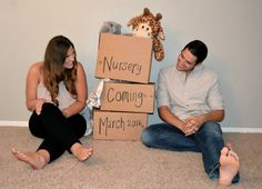 A pregnancy announcement. Just moved into our new home                                                                                                                                                                                 More