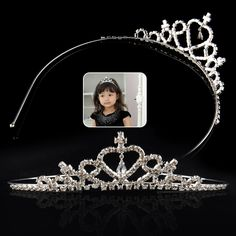 Glitter Rhinestone Princess Crown Tiara Headband Hair band for Child kid Girl Free Shipping http://cinderellajewelry.com/