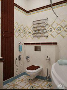 Ванная, ЖК Гранд Парк: интерьер, зd визуализация, квартира, дом, санузел, ванная, туалет, неоклассика, 0 - 10 м2, интерьер #interiordesign #3dvisualization #apartment #house #wc #bathroom #toilet #neoclassicism #010m2 #interior arXip.com