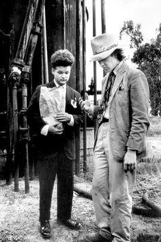 Jack Nance and David Lynch on the set of Eraserhead (1977)
