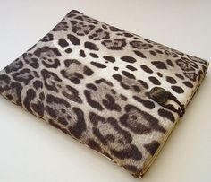 Stylish iPad Case iPad Cover in Leopard Print Cotton by Covercraft, $28.50