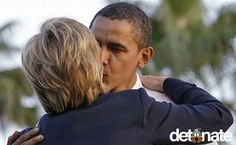 I LOVE TO HATE YOU, THIS IS THE DEAL THEY MADE WHEN HILARY SLOWED DOWN AND LET OBAMA BE PRESIDENT!    This show of (seemingly) love just goes to prove that there is no love lost between these two politicians. He endorsed her, but they don't really like each other.