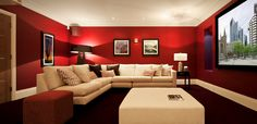 Entertainment room paint color ideas how to choose the right basement color throughout media room paint