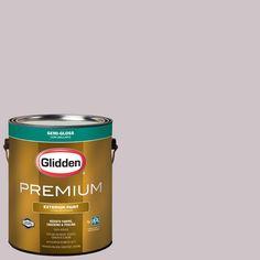 Glidden Premium 1-gal. #HDGR11U Turtledove Rose Semi-Gloss Latex Exterior Paint