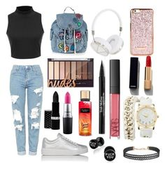 """Sin título #136"" by fridamarciano on Polyvore featuring moda, Topshop, Prada Sport, Frends, Humble Chic, Charlotte Russe, Chanel, Hard Candy, MAC Cosmetics y NARS Cosmetics"