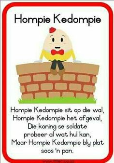 Hompie Kedompie - Afrikaans - New education Preschool Classroom, Preschool Learning, Classroom Activities, Preschool Activities, Preschool Worksheets, Educational Activities, Grade R Worksheets, Nursery Rymes, Afrikaans Language