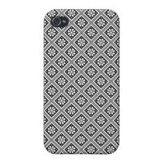 Black and White Ethno Pattern Case For iPhone 4 on buy-the-new.com