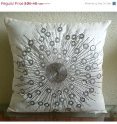 ON SALE Throw Pillow Covers 16x16 Inch White by TheHomeCentric, $26.46