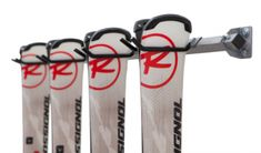 Need a way to keep skis accessible, yet out of the way? Try this four ski set storage rack from Monkey Bar Storage