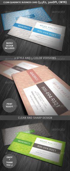 Clean Quadratic Business Card