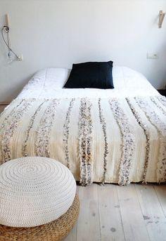 Handira  Vintage Moroccan Wedding Blanket