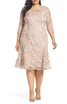 online shopping for Alex Evenings Embroidered Fit Flare Dress (Plus Size) from top store. See new offer for Alex Evenings Embroidered Fit Flare Dress (Plus Size)
