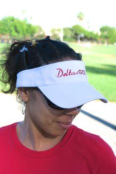 Delta's Golf visor, white • Burning Sands, Delta Sigma Theta