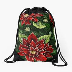 Green Christmas, Christmas Themes, Christmas Gifts, Drawstring Bags, Red Green, Color Patterns, Party Supplies, Art Prints, Tote Bag