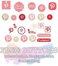 Free Blog Buttons - http://missedesign.blogspot.com/2012/11/social-networking-buttons-pinterest.html