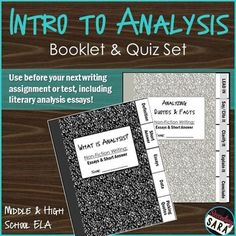 $ - Do your middle or high school English students struggle to ANALYZE quotes and facts? Grab these mini-booklets to crash course analysis!