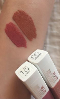 Maybelline Superstay Matte Ink in the shades- 15 Lover and 65 Seductress – … Maybelline Superstay Matte Ink in the shades- 15 Lover and 65 Seductress – … – Maybelline Superstay, Maybelline Matte Lipstick, Liquid Lipstick, Drugstore Lipstick, Dupe Makeup, Makeup Swatches, Skin Makeup, Makeup Brushes, Makeup Haul