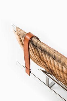 Poul Kjærholm Lounge Chair Model Pk-24 for E. Kold Christensen in Denmark 4